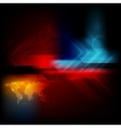Dark technology abstraction vector image vector image