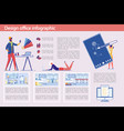 design office infographic set with creative people vector image