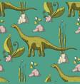 diplodocus dinosaur vector image