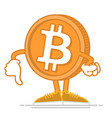 dont happy bitcoin vector image