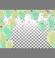 festive colorful party shiny banners with air vector image vector image