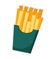 french fries box fast food vector image vector image