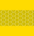 Geometry line hexagonal seamless pattern vector image