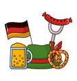 german traditional hat and oktoberfest icons vector image vector image