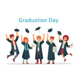graduate students graduation day of university vector image vector image