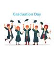graduate students graduation day university vector image