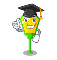 graduation lamp post in isolated on mascot vector image vector image