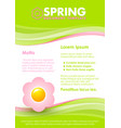 green seasonal spring document template vector image