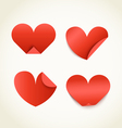 Group of red paper hearts Happy Valentines Day vector image vector image