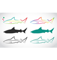 group of shark vector image vector image