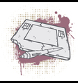 Grunge Graphic Tablet vector image vector image