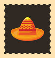 hat mexican culture traditional vector image