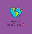 heart day concept background hand drawn style vector image vector image