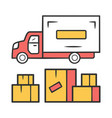 heavy goods delivery color icon cargo shipping vector image