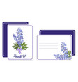 horizontal and vertical postcards with a bouquet vector image vector image