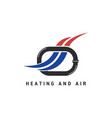 hvac logo with pipe symbol vector image vector image