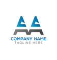 initial aa letter logo design modern business vector image vector image