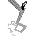 ladder businessman vector image