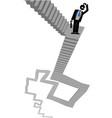 ladder businessman vector image