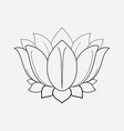 lotus flower icon line element vector image vector image