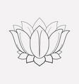 lotus flower icon line element vector image