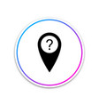 map pointer with question symbol icon isolated on vector image vector image