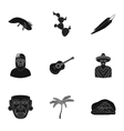 Mexico country set icons in black style Big vector image vector image