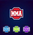 mma modern professional mixed martial arts vector image vector image