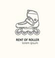 modern linear style rental of roller skates vector image
