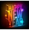 Neon Happy New Year vector image vector image