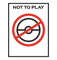 not to play pokemon game warning vector image