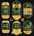 olive oil retro vintage background collection 7 vector image vector image