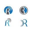 r letter logo template icon design vector image vector image