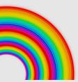 rainbow circles vector image vector image