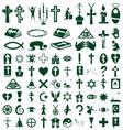 religion faith icons on white vector image