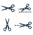 scissors icons set on white background vector image vector image