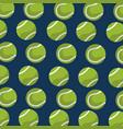 seamless pattern tennis ball equipment blue vector image