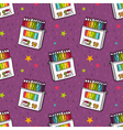 seamless pattern with colored pencils vector image vector image