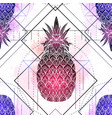 seamless pattern with mystical pineapples with vector image vector image