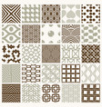 set endless geometric patterns composed with vector image vector image