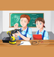 students in class vector image