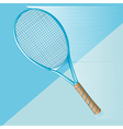 tennis racket on blue vector image vector image