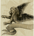 The Winged lion vector image vector image