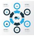 transportation colorful icons set collection of vector image