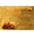 Two champagne corks lying of mosaics vector image