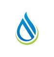 water drop abstract shape logo vector image vector image