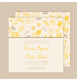 wedding invitation card yellow vector image vector image