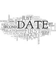 when a first date should be the last date tips to vector image vector image