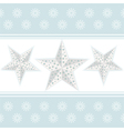 white chistmas stars vector image vector image