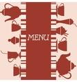 Coffeehouse menu design vector image